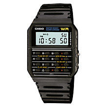 Buy Casio CA-53W-1ER Unisex Calculator Resin Strap Watch, Black Online at johnlewis.com