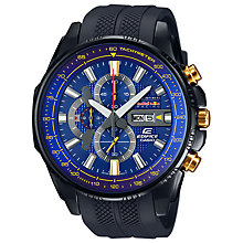 Buy Casio EFR-549RBP-2AER Men's Edifice Red Bull Resin Strap Watch, Black/Blue Online at johnlewis.com
