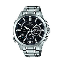 Buy Casio EQB-510D-1AER Men's Edifice Stainless Steel Strap Watch, Black Online at johnlewis.com