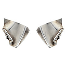 Buy Sharon Mills Vintage 1978 CGM Square Clip-On Earrings, Silver Online at johnlewis.com