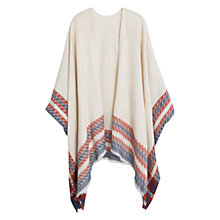Buy Mango Striped Cape, Natural White Online at johnlewis.com