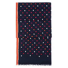 Buy Hobbs Spot Print Scarf, Navy Multi Online at johnlewis.com