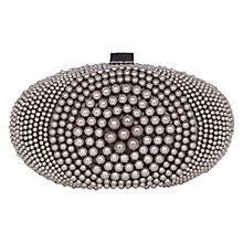 Buy Coast Paloma Pearl Clutch Bag, Grey Online at johnlewis.com