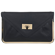Buy Miss Selfridge Metal Frame Clutch Bag, Black Online at johnlewis.com