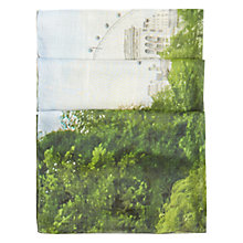 Buy Hobbs London Print Scarf, Green Multi Online at johnlewis.com