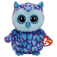 Buy Ty Beanie Boo Oscar Owl Soft Toy, 24cm Online at johnlewis.com