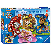 Buy Paw Patrol 4-In-1 Ravensburger Shaped Puzzles, 52 Pieces Online at johnlewis.com