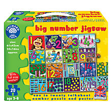 Buy Orchard Toys Big Number Jigsaw Game Online at johnlewis.com