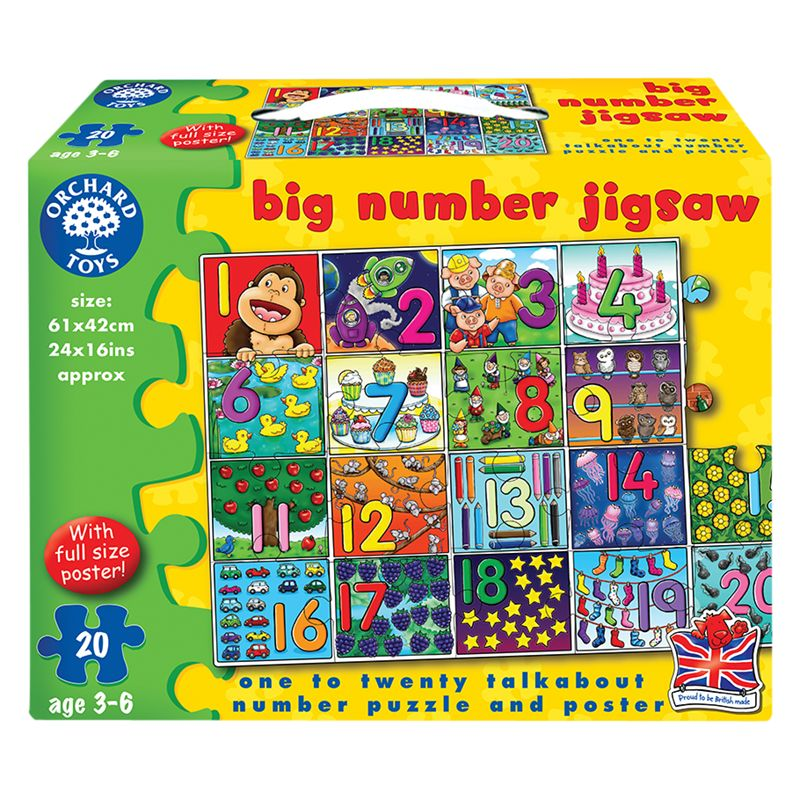 Orchard Toys Orchard Toys Big Number Jigsaw Game