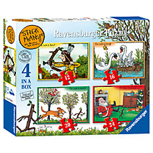 Buy Ravensburger Stick Man 4-in-1 Puzzle Pack, 72 Pieces Online at johnlewis.com