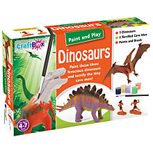 Buy Craft Box Paint And Play Dinosaurs Online at johnlewis.com