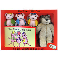 Buy Puppet Company Three Little Pigs Finger Puppets And Book Set Online at johnlewis.com