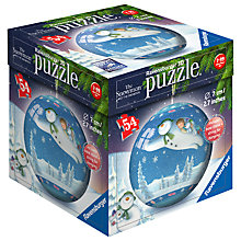 Buy Ravensburger The Snowman And The Snow Dog 3D Puzzle, 54 Pieces Online at johnlewis.com