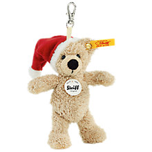 Buy Steiff Christmas Hat Fynn Teddy Bear Keyring Online at johnlewis.com