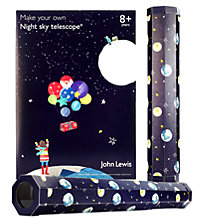 Buy John Lewis Man on the Moon Make Your Own Telescope Kit Online at johnlewis.com