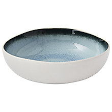 Buy west elm Crackled Bowl, White/Blue Online at johnlewis.com