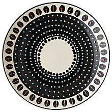 Buy west elm Potters Workshop Dot 28cm Dinner Plate, Black/White Online at johnlewis.com