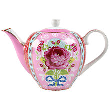 Buy PiP Studio Big Floral Teapot, Pink Online at johnlewis.com