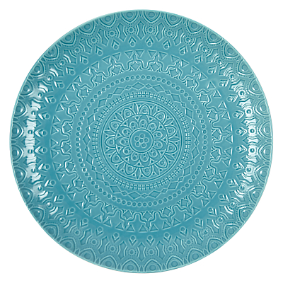 John Lewis Persian BBQ Charger Plate, Dia.30cm, Turquoise