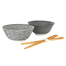 Buy Tokyo Design Studio Bowl and Chopsticks, Set of 2 Online at johnlewis.com
