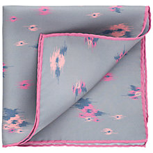 Buy Thomas Pink Tyndale Flower Silk Pocket Square, Grey/Pink Online at johnlewis.com