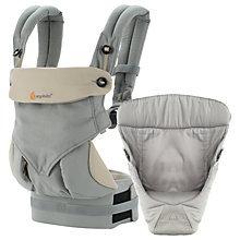 Buy Ergobaby 360 Bundle of Joy Baby Carrier, Grey Online at johnlewis.com