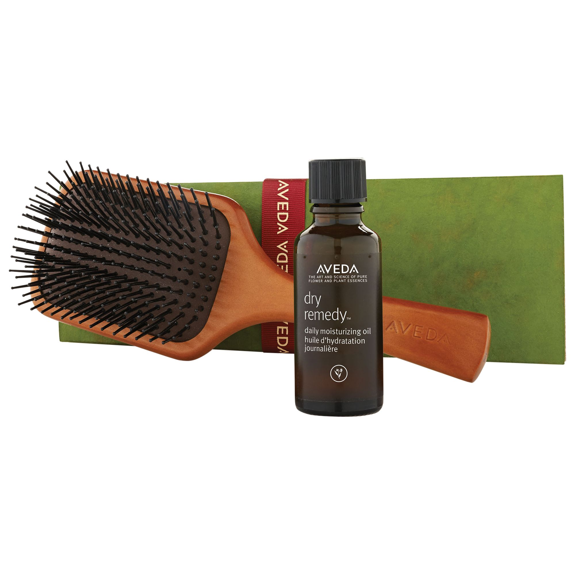 AVEDA AVEDA Dry Remedy Daily Moisturising Oil With Paddle Brush Haircare Gift Set