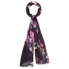 Buy Viyella Digital Rose Print Scarf, Purple Online at johnlewis.com