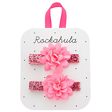 Buy Rockahula Glitter Flower Clips, Pack of 2 Online at johnlewis.com