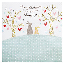 Buy Blue Eyed Sun Enchantment Daughter Christmas Card Online at johnlewis.com