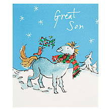 Buy Quentin Blake Decorated Reindeer Christmas Card Online at johnlewis.com