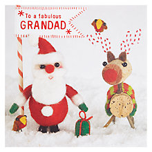 Buy Paper Rose Grandad and Rudolph Christmas Card Online at johnlewis.com