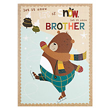 Buy Paperhouse Ice Skating Bear Brother Christmas Card Online at johnlewis.com