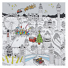 Buy Portfolio Christmas In London Town Christmas Card Online at johnlewis.com