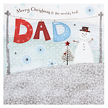 Buy Blue Eyed Sun Dad Christmas Card Online at johnlewis.com