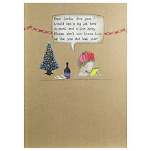 Buy Paperlink Dear Santa Christmas Card Online at johnlewis.com