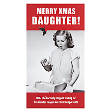 Buy Paperlink Daughter Christmas Card Online at johnlewis.com