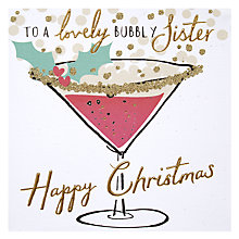 Buy Hotchpotch Lovely Bubbly Sister Christmas Card Online at johnlewis.com