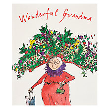 Buy Quentin Blake Lady With Flower Hat Christmas Card Online at johnlewis.com