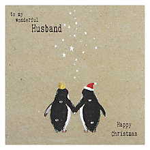 Buy Hammond Gower Penguin Couple Christmas Card Online at johnlewis.com