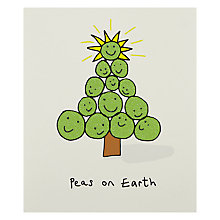Buy Portfolio Peas On Earth Christmas Card Online at johnlewis.com