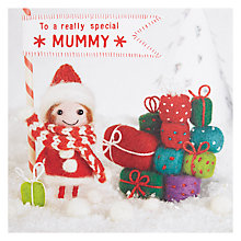 Buy Paper Rose Presents For Mummy Christmas Card Online at johnlewis.com
