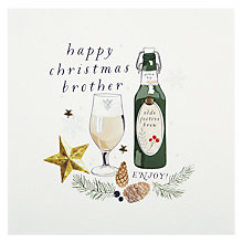 Buy Belly Button Designs Brother Christmas Card Online at johnlewis.com