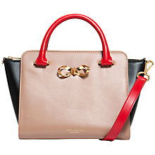 Buy Ted Baker Charley Colour Block Leather Tote Bag, Beige Online at johnlewis.com