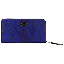 Buy Paul's Boutique Carla Purse Faux Snakeskin Pattern Purse, Electric Blue Online at johnlewis.com
