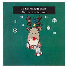 Buy Saffron To The World's Best Dad Christmas Card Online at johnlewis.com