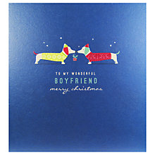 Buy Art File To My Wonderful Boyfriend Christmas Card Online at johnlewis.com