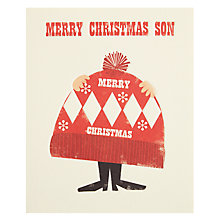 Buy Art File Son Christmas Hat Christmas Card Online at johnlewis.com