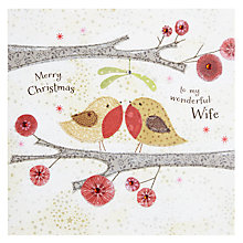 Buy Blue Eyed Sun Wife Christmas Card Online at johnlewis.com