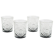 Buy west elm Decorated Glass Tumbler, Smoke Online at johnlewis.com